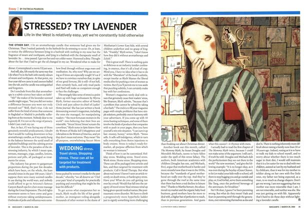 Article Preview: STRESSED? TRY LAVENDER, March 2004 | Maclean's