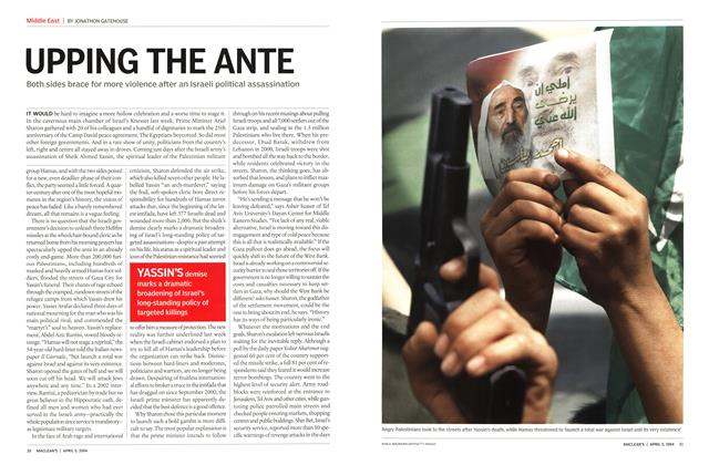 Article Preview: UPPING THE ANTE, April 2004 | Maclean's