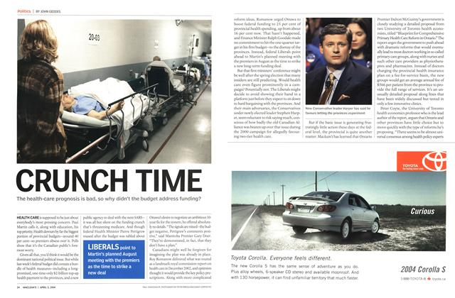 Article Preview: CRUNCH TIME, April 2004 | Maclean's