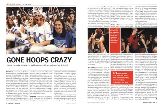 Article Preview: GONE HOOPS CRAZY, April 2004 | Maclean's