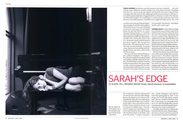 Article Preview: SARAH'S EDGE, April 2004 | Maclean's