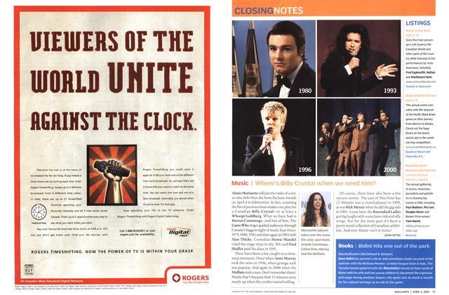 Article Preview: Music, April 2004 | Maclean's