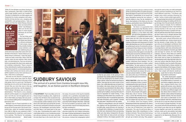 Article Preview: SUDBURY SAVIOUR, April 2004 | Maclean's
