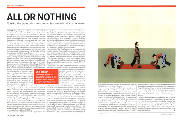 Article Preview: ALL OR NOTHING, April 2004 | Maclean's