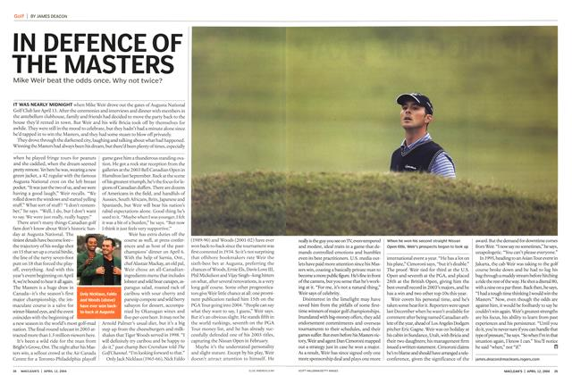 Article Preview: IN DEFENCE OF THE MASTERS, April 2004 | Maclean's
