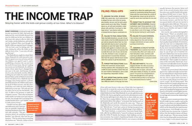 Article Preview: THE INCOME TRAP, April 2004 | Maclean's