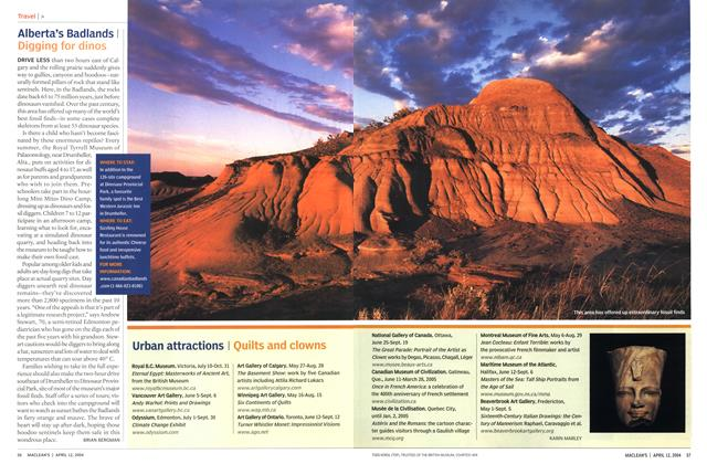 Article Preview: Urban attractions, April 2004 | Maclean's