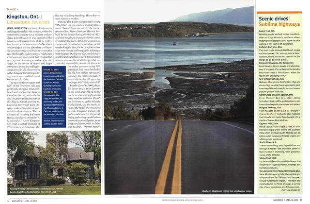 Article Preview: Scenic drives, April 2004 | Maclean's
