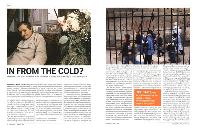 Article Preview: IN FROM THE COLD?, April 2004 | Maclean's
