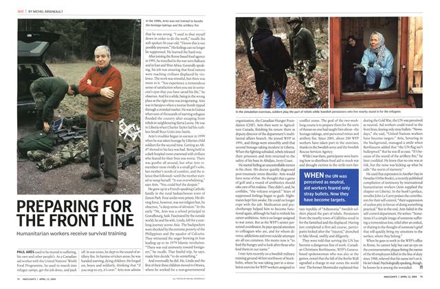 Article Preview: PREPARING FOR THE FRONT LINE, April 2004 | Maclean's