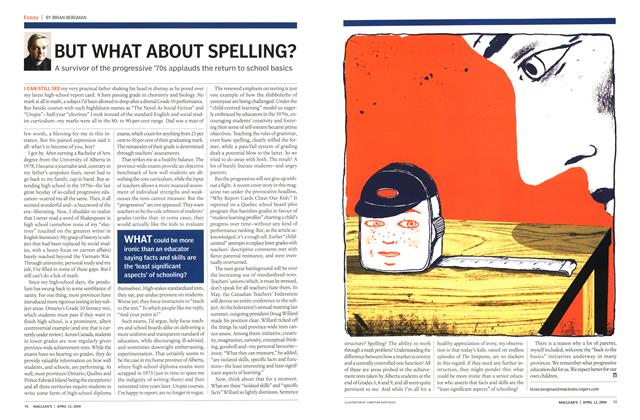 Article Preview: BUT WHAT ABOUT SPELLING?, April 2004 | Maclean's