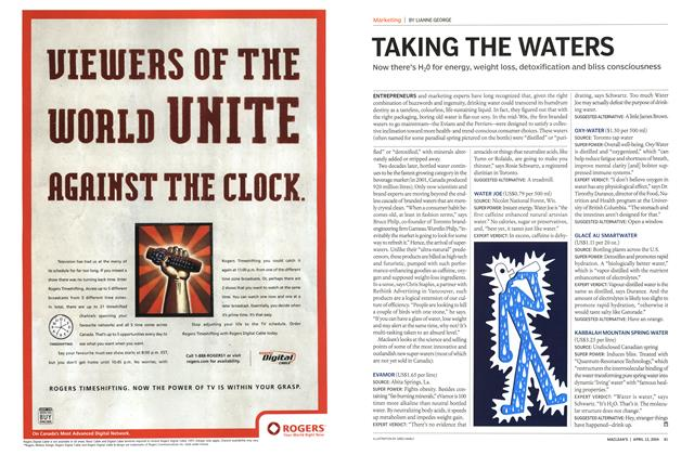 Article Preview: TAKING THE WATERS, April 2004 | Maclean's