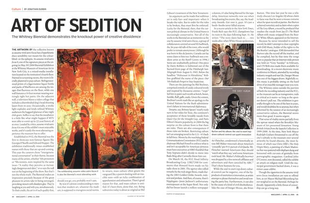 Article Preview: ART OF SEDITION, April 2004 | Maclean's
