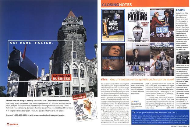 Article Preview: Films, April 2004 | Maclean's