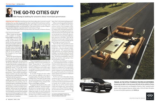 Article Preview: THE GO-TO CITIES GUY, April 2004 | Maclean's