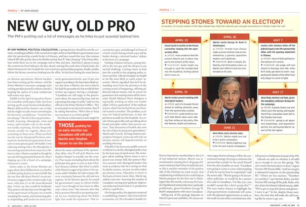 Article Preview: NEW GUY, OLD PRO, April 2004 | Maclean's