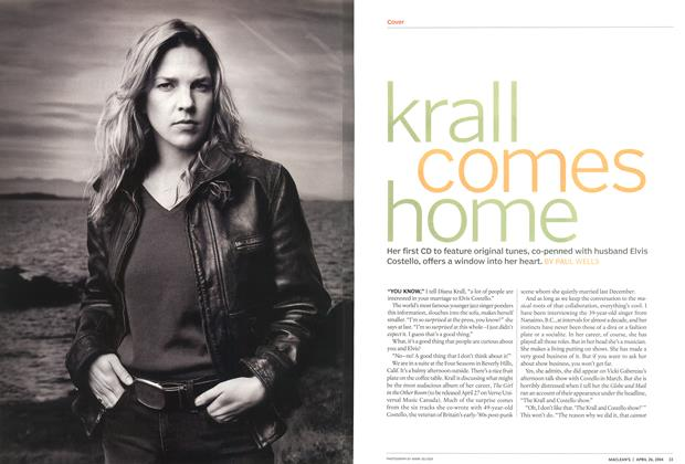 Article Preview: krall comes home, April 2004 | Maclean's