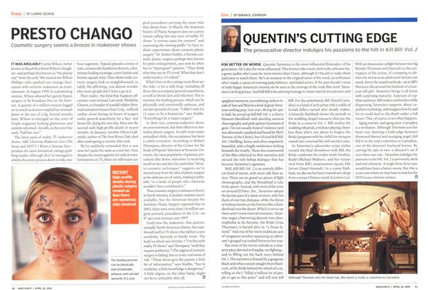 Article Preview: QUENTIN'S CUTTING EDGE, April 2004 | Maclean's