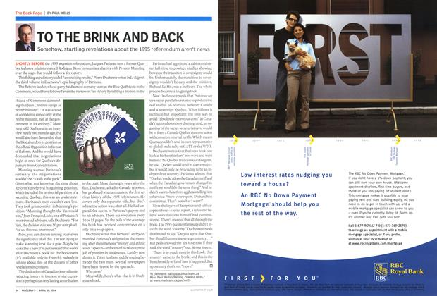 Article Preview: TO THE BRINK AND BACK, April 2004 | Maclean's