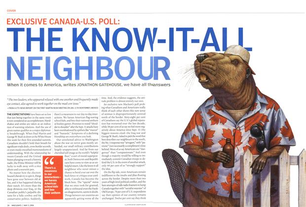 Article Preview: THE KNOW-IT-ALL NEIGHBOUR, May 2004 | Maclean's