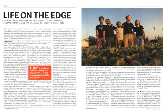 Article Preview: LIFE ON THE EDGE, May 2004 | Maclean's