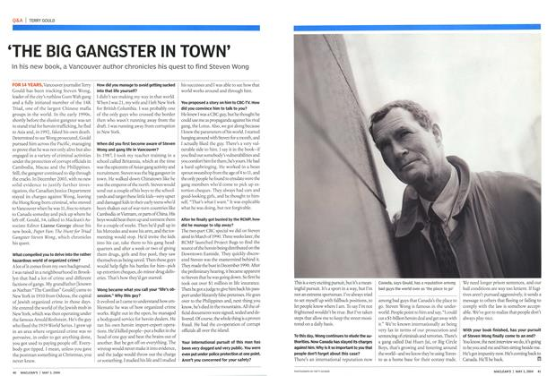 Article Preview: THE BIG GANGSTER IN TOWN', May 2004 | Maclean's