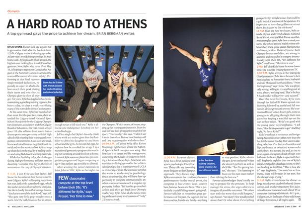 Article Preview: A HARD ROAD TO ATHENS, May 2004 | Maclean's