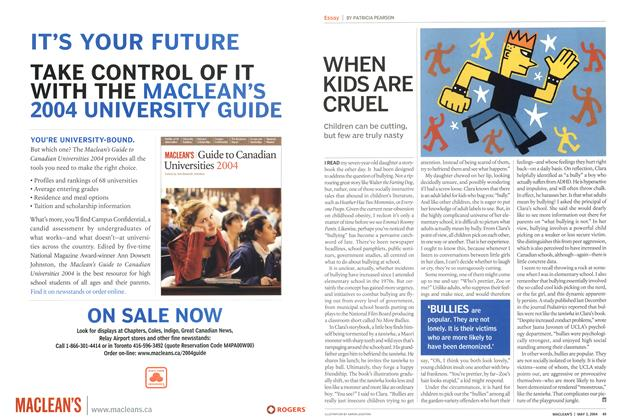 Article Preview: WHEN KIDS ARE CRUEL, May 2004 | Maclean's