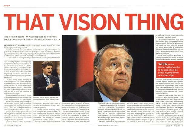 Article Preview: THAT VISION THING, May 2004 | Maclean's