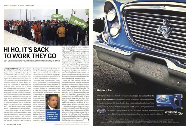 Article Preview: HI HO, IT'S BACK TO WORK THEY GO, May 2004 | Maclean's
