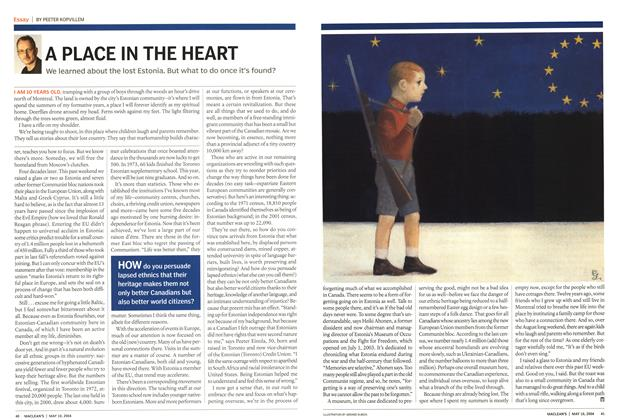 Article Preview: A PLACE IN THE HEART, May 2004 | Maclean's