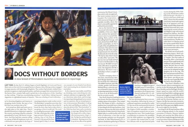Article Preview: DOCS WITHOUT BORDERS, May 2004 | Maclean's
