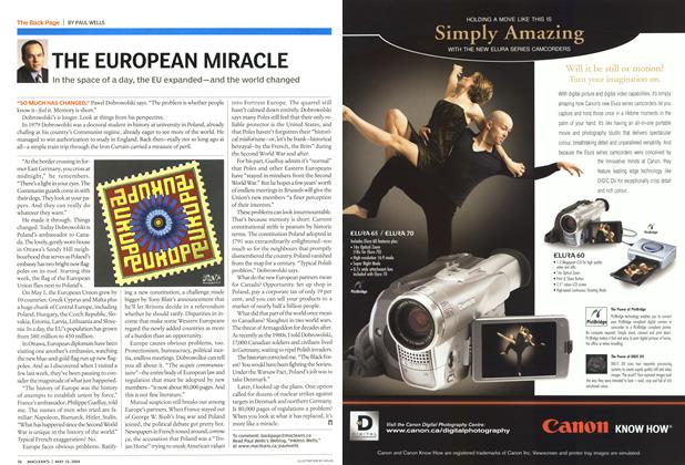 Article Preview: THE EUROPEAN MIRACLE, May 2004 | Maclean's