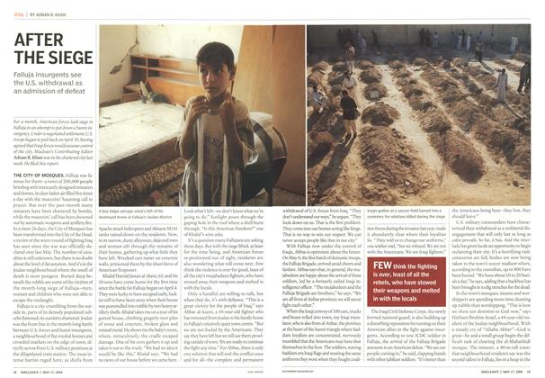 Article Preview: AFTER THE SIEGE, May 2004 | Maclean's