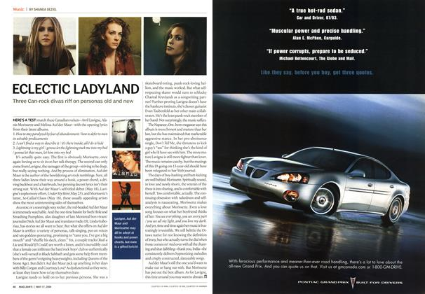Article Preview: ECLECTIC LADYLAND, May 2004 | Maclean's
