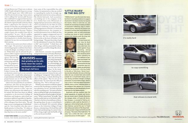 Article Preview: 'LITTLE BLUES' IN THE BIG CITY, May 2004 | Maclean's