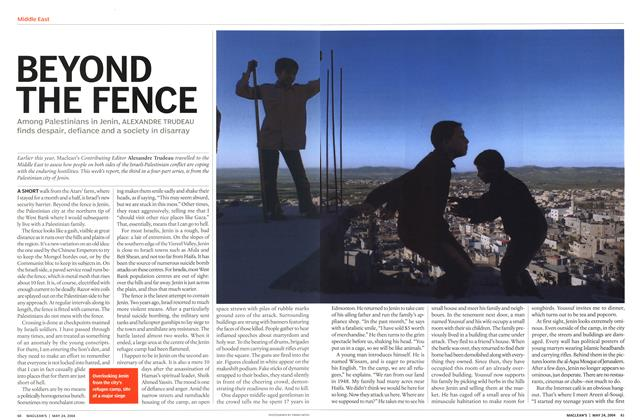 Article Preview: BEYOND THE FENCE, May 2004 | Maclean's
