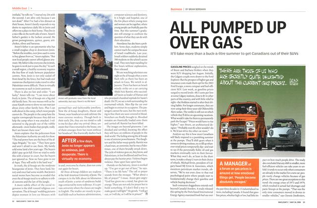 Article Preview: ALL PUMPED UP OVER GAS, May 2004 | Maclean's
