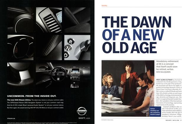 Article Preview: THE DAWN OF A NEW OLD AGE, May 2004 | Maclean's