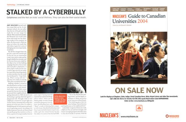 Article Preview: STALKED BY A CYBERBULLY, May 2004 | Maclean's