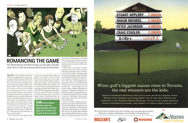 Article Preview: ROMANCING THE GAME, May 2004 | Maclean's