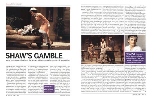 Article Preview: SHAW'S GAMBLE, May 2004 | Maclean's