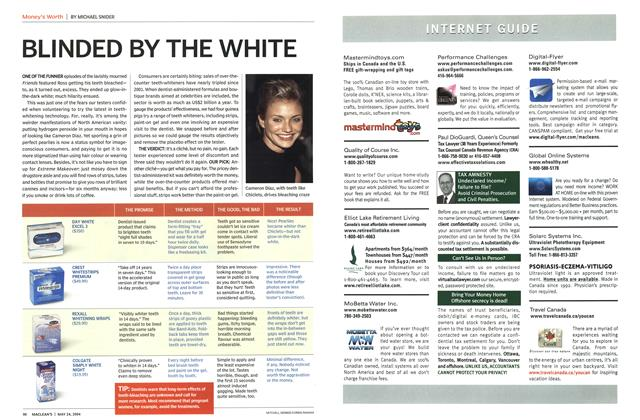 Article Preview: BLINDED BY THE WHITE, May 2004 | Maclean's
