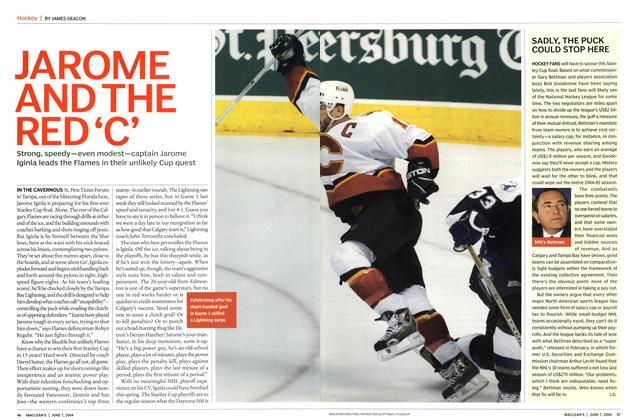 Article Preview: JAROME AND THE RED 'C', June 2004 | Maclean's