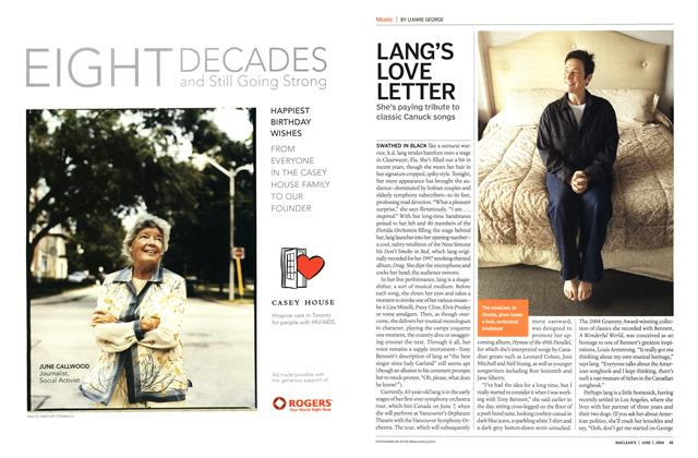 Article Preview: LANG'S LOVE LETTER, June 2004 | Maclean's
