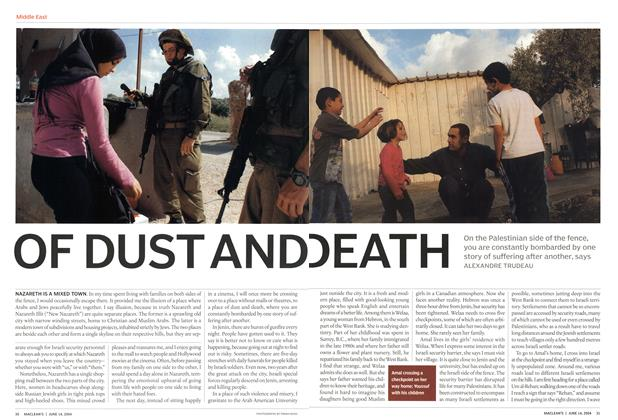 Article Preview: OF DUST AND DEATH, June 2004 | Maclean's