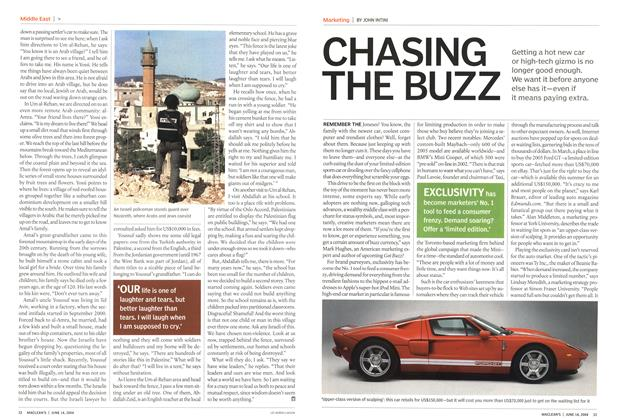 Article Preview: CHASING THE BUZZ, June 2004 | Maclean's