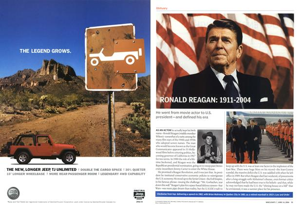 Article Preview: RONALD REAGAN: 1911-2004, June 2004 | Maclean's