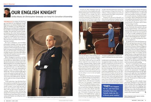 Article Preview: OUR ENGLISH KNIGHT, June 2004 | Maclean's