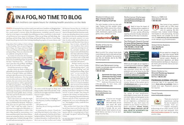 Article Preview: IN A FOG, NO TIME TO BLOG, June 2004 | Maclean's